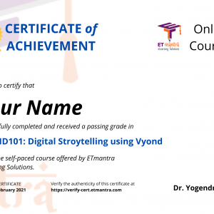 Vyond Certificate Course